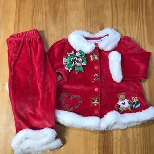First Impressions Red Velvet Christmas Outfit 18M